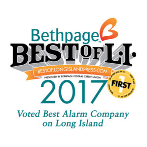 Voted best alarm company on Long Island